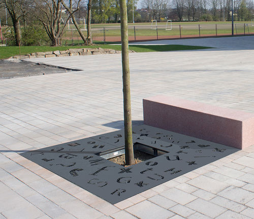 grille d'arbre en acier galvanisé / en acier COR-TEN® / ronde / carrée