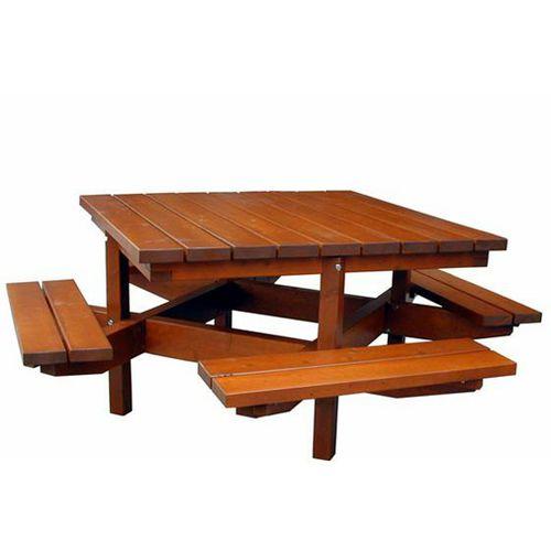 ensemble table et bancs rustique