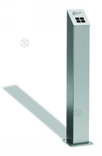 cendrier sur pied / mural / en acier inoxydable / pour extérieur