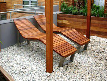 bain de soleil contemporain / en teck / en acier inoxydable / en acier galvanisé