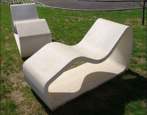 bain de soleil contemporain / en béton / pour espace public
