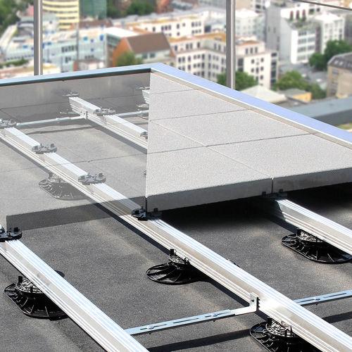 support pour plancher technique en aluminium - ZinCo GmbH
