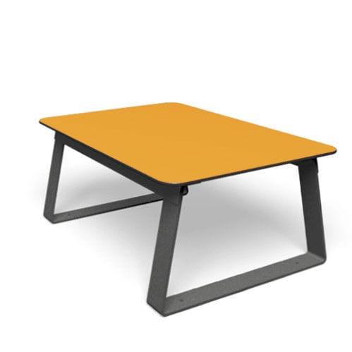 table basse contemporaine / en métal / en HPL / rectangulaire