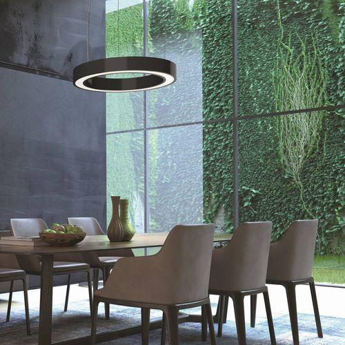 luminaire suspendu / à LED / rond / en aluminium extrudé