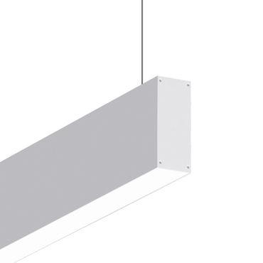 luminaire suspendu / fluorescent / linéaire / en aluminium extrudé