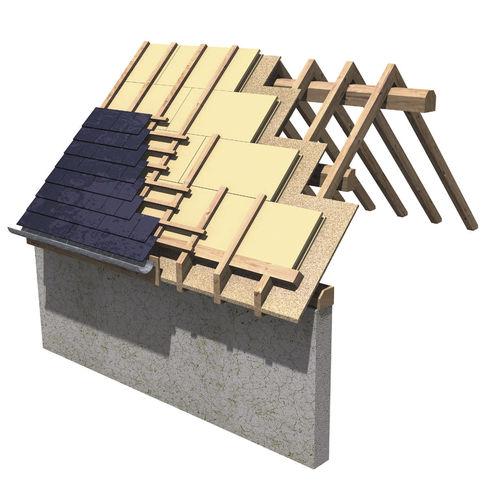 isolant thermique / en polystyrène extrudé / pour murs enterrés / pour intérieur