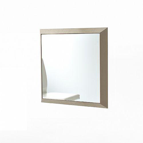 miroir mural / contemporain / carré / en bois