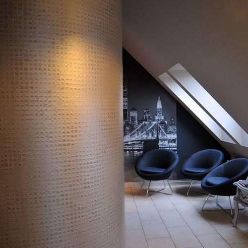 tissu mural / à motif / en fibre de verre / professionnel