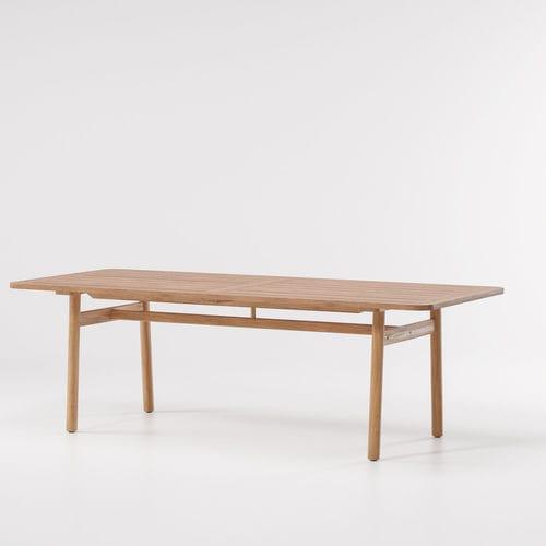 table à manger contemporaine / en teck / en marbre / rectangulaire
