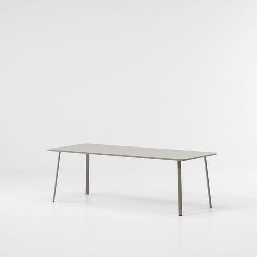 table contemporaine / en aluminium / rectangulaire / ronde