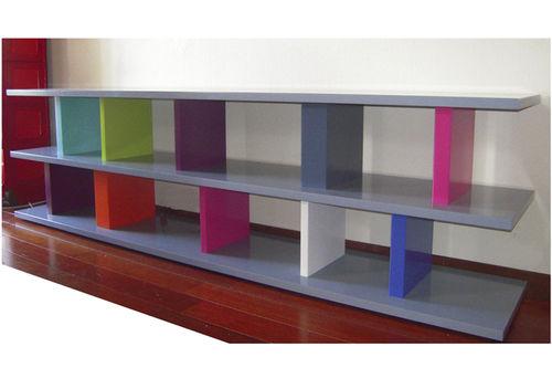 meuble TV contemporain / sur mesure / hi-fi / en bois laqué