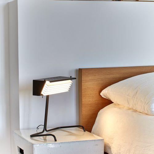 lampe de chevet / contemporaine / en aluminium / en acier