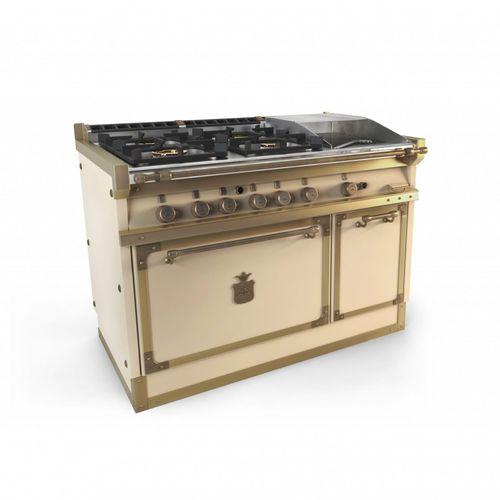 piano de cuisson à gaz / électrique / professionnel / en fonte