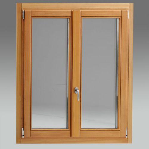 fenêtre battante / en bois / à triple vitrage