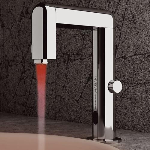 mitigeur pour vasque / en métal chromé / électronique / 1 trou