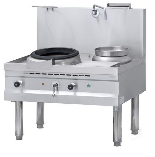 cuisinière à gaz / professionnelle / wok