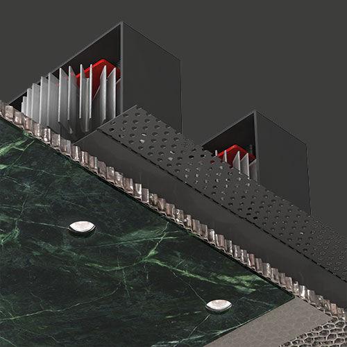 luminaire encastré / à LED / rond / en aluminium