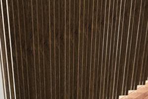 store à bandes verticales / en bois / en verre acrylique