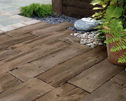 Carrelage d'extérieur - WOODSTONE SLEEPERS - Marshalls plc - pour sol / en bois / en béton