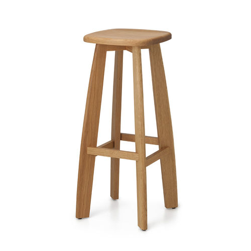 tabouret de bar contemporain / en chêne