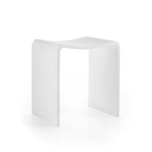 tabouret de douche en métal / blanc