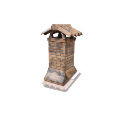 souche de cheminée maçonné