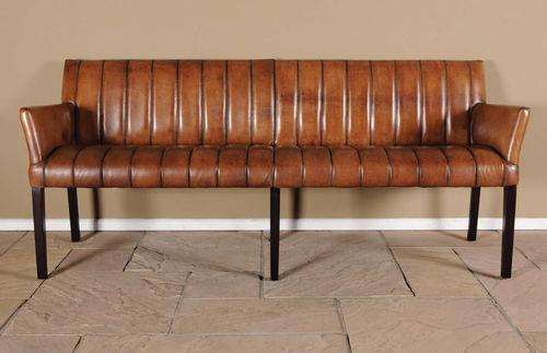 Banc Classique Cube Denver Hazenkamp Furnitures Bv En Cuir Avec Dossier