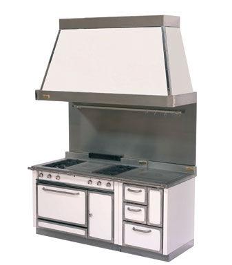 cuisinière électrique / mixte / professionnelle / en fonte