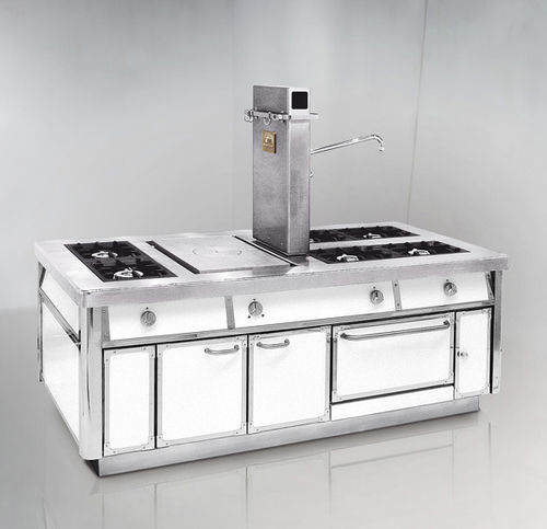 cuisinière à gaz / professionnelle / équipée