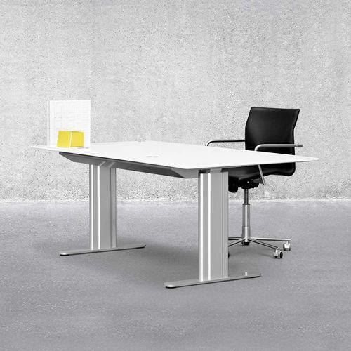 bureau en aluminium / en stratifié / contemporain / à hauteur réglable