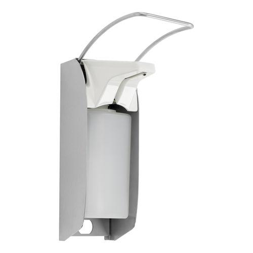 distributeur de gel désinfectant en acier inoxydable / mural / professionnel