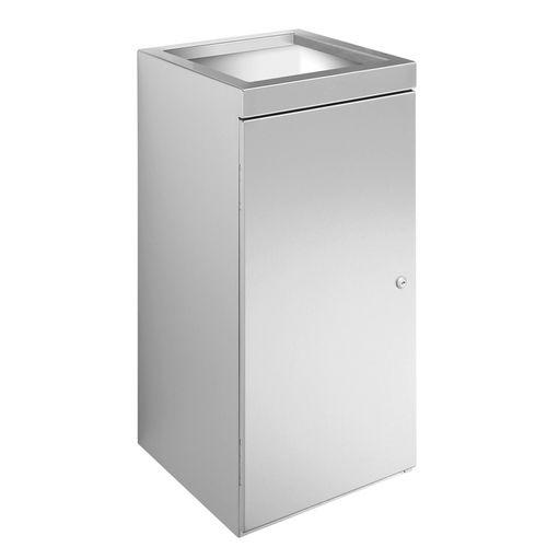 poubelle de salle de bain / en inox / contemporaine / professionnelle