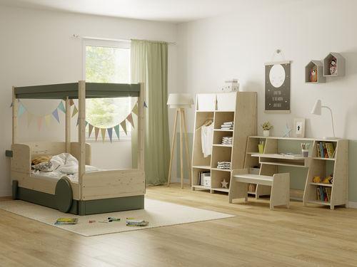 chambre d'enfant en bois laqué