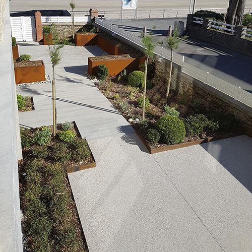 bordure de jardin / de séparation / pour aménagement paysager / en acier COR-TEN®