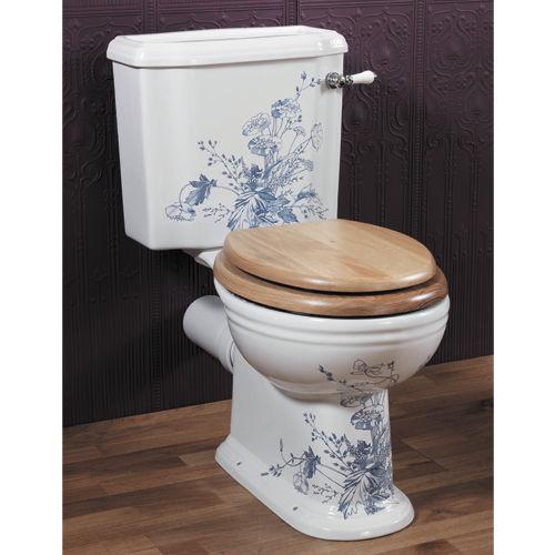 toilettes monobloc / en porcelaine / avec manette