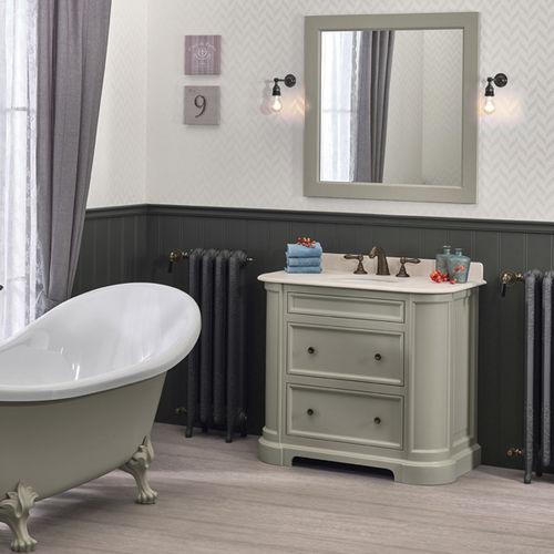 meuble de salle de bain classique / en bois / mural / avec tiroir