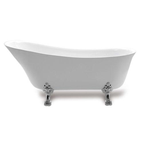 baignoire sur pieds / ovale / en acrylique