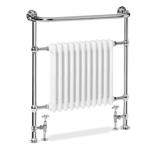 sèche-serviettes à eau chaude / électrique / en métal / contemporain