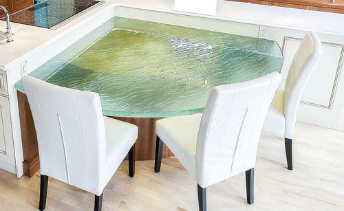 plateau de table en verre / pour restaurant