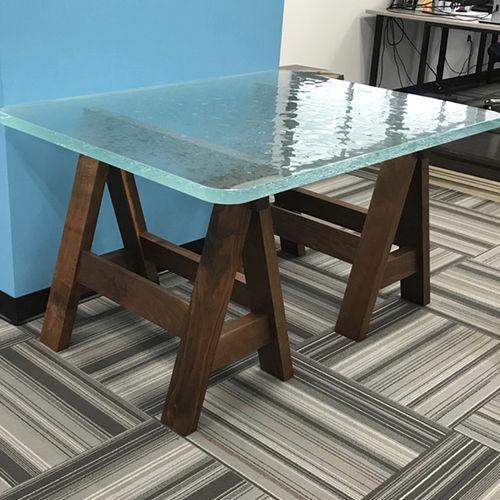 plateau de table en verre / résistant à la chaleur