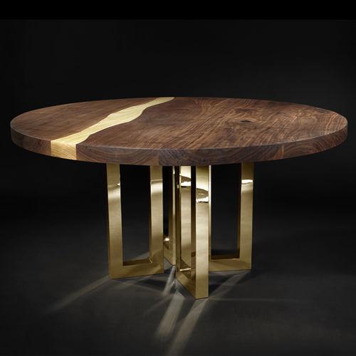 table à manger design original / en bois massif / en frêne / en noyer américain