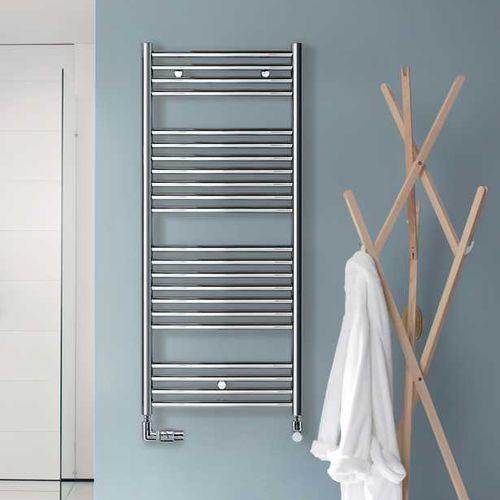 sèche-serviettes électrique / à eau chaude / en inox / contemporain