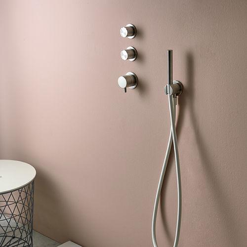mélangeur pour douche / mural / en acier inoxydable / thermostatique