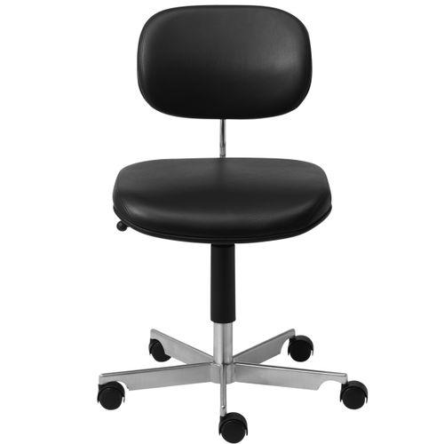 chaise visiteur contemporaine / tapissée / à roulettes / piètement étoile