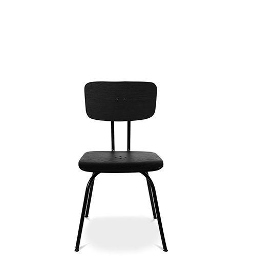 chaise contemporaine / tapissée / en bois / en acier