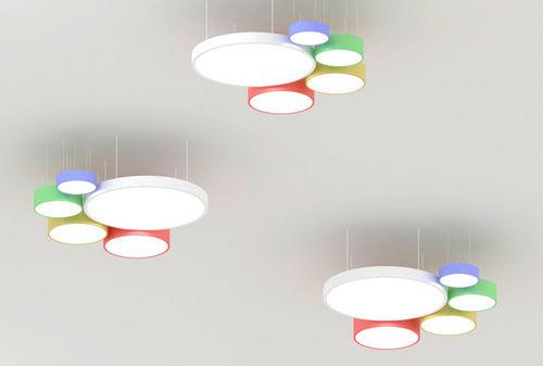 luminaire suspendu / à LED / rond / en aluminium