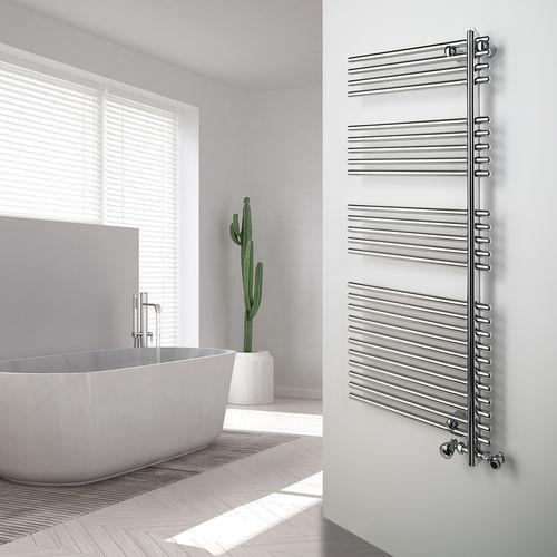 sèche-serviettes à eau chaude / en acier / contemporain / de salle de bain
