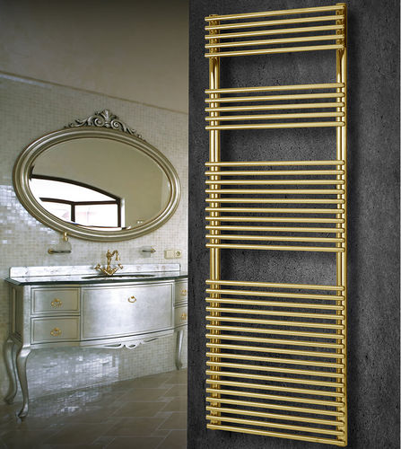 sèche-serviettes à eau chaude / en acier / contemporain / mural