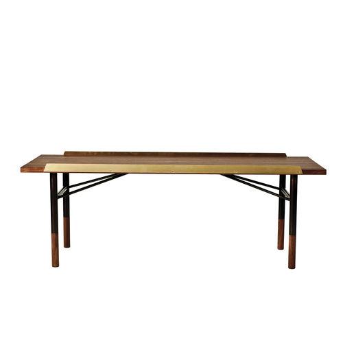 table basse design scandinave / en acier / en chêne / en noyer