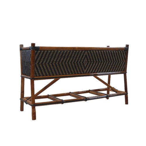 jardinière en bois / rectangulaire / classique / pour espace public